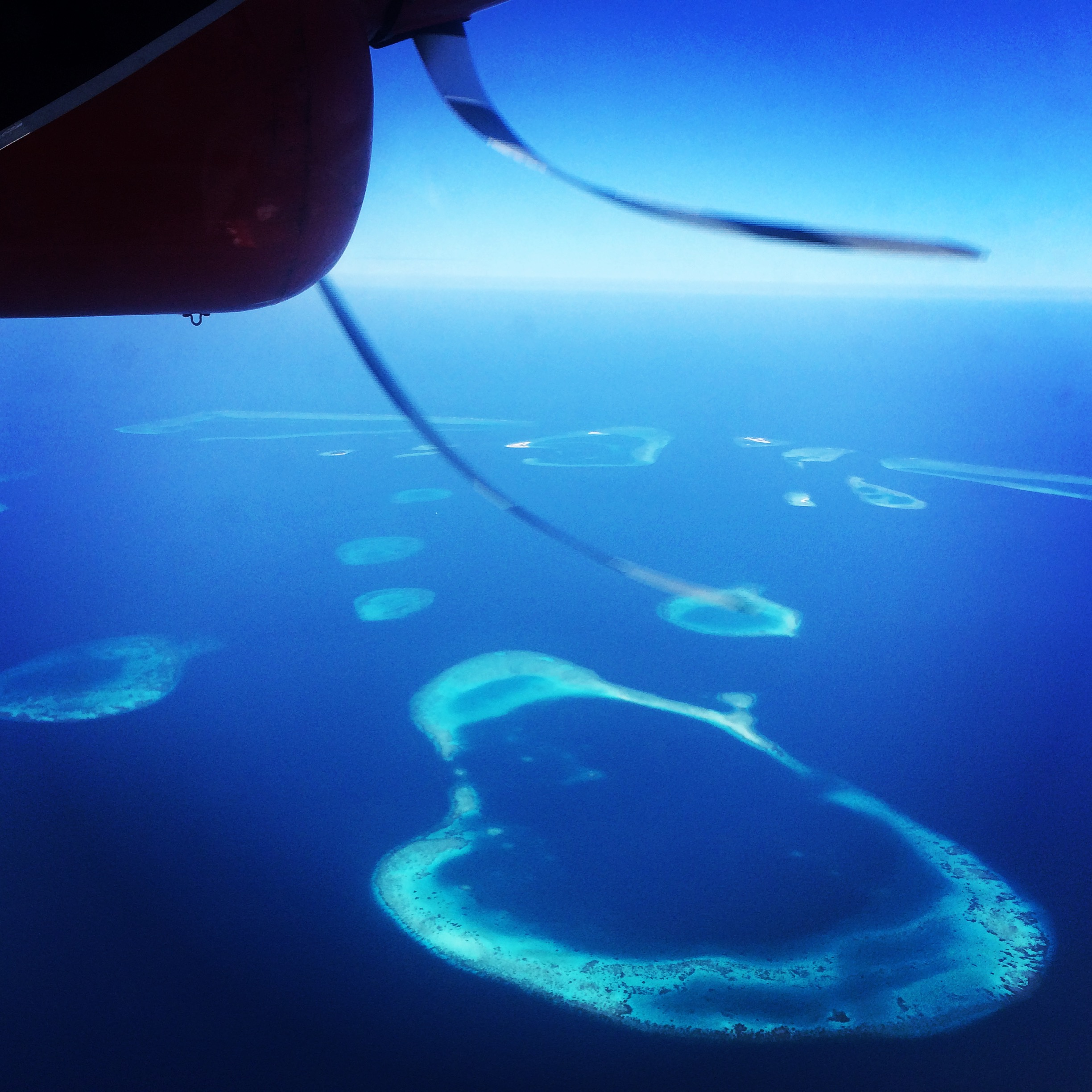 Atolls from plane
