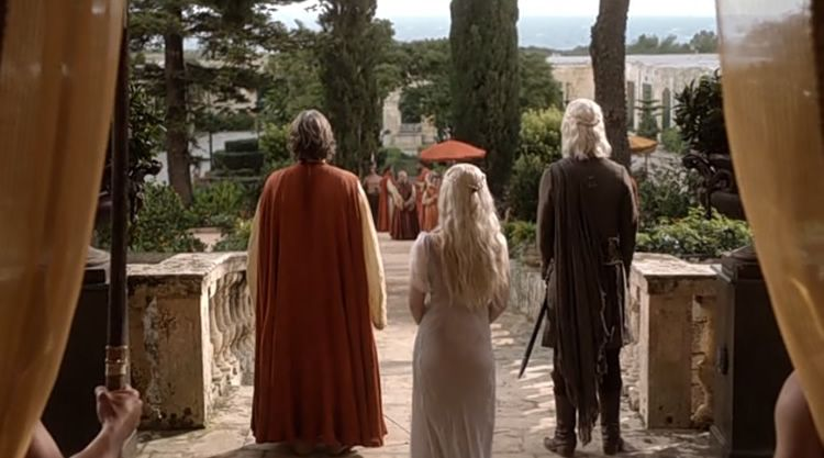 Verdala Palace Meeting of Daenerys and Khal Drogo